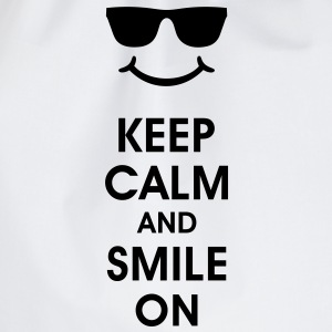 Keep Calm and Smile. Sorridere aiuta. Smiley Smily Bottiglie e tazze - Sacca sportiva