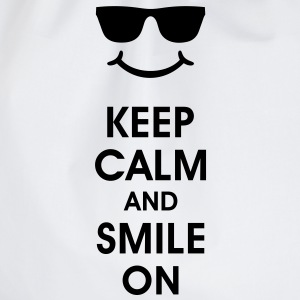 Keep Calm and Smile. Smiley Smilie T-Shirts - Turnbeutel