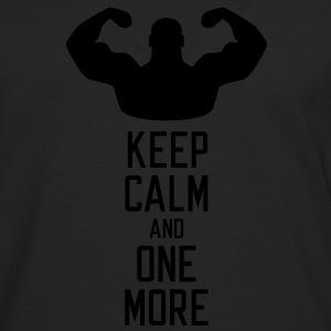 Keep calm and one more T-shirts - Mannen Premium shirt met lange mouwen