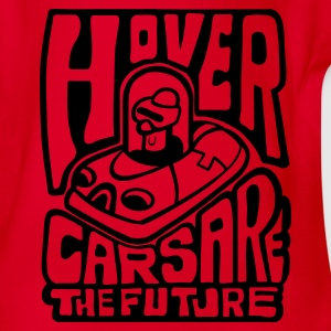 Red Hovercars Are the Future! Kid's Shirts  - Organic Short-sleeved Baby Bodysuit