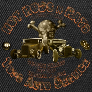 hot rods rats custom garage T-Shirts Shirtmatic - Snapback Cap