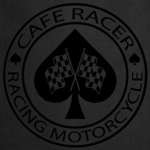 Cafe racer racing motorcycle ace of Spades - Cooking Apron