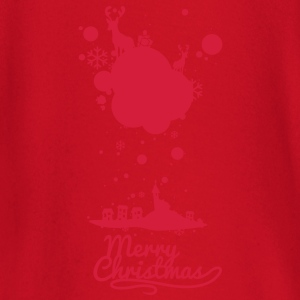Christmas symbols with snow and merry christmas Shirts - Baby Long Sleeve T-Shirt