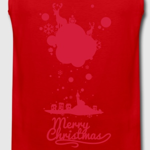 Christmas symbols with snow and merry christmas Shirts - Men's Premium Tank Top