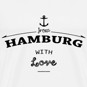 From Hamburg with love Poloshirts - Männer Premium T-Shirt