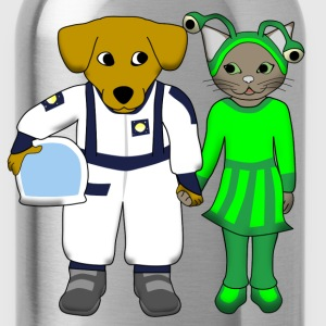 space dog and alien cat Tee shirts - Gourde