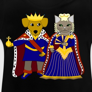 KIng dog and queen cat Camisetas - Camiseta bebé