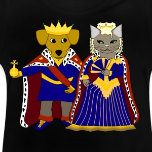 KIng dog and queen cat T-shirts - Baby-T-shirt