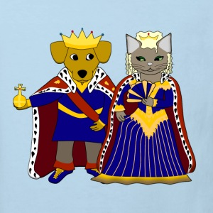 KIng dog and queen cat T-shirts - Organic børne shirt