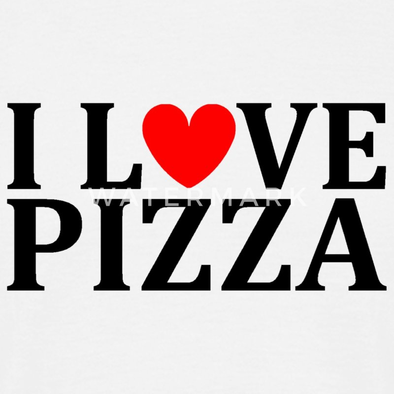 I love pizza - Mannen T-shirt