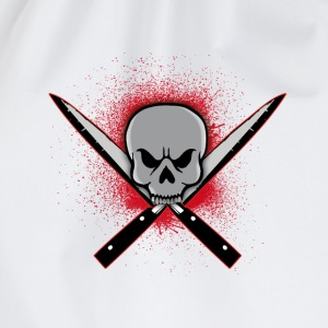 Skull with crossed knifes Tee shirts - Sac de sport léger