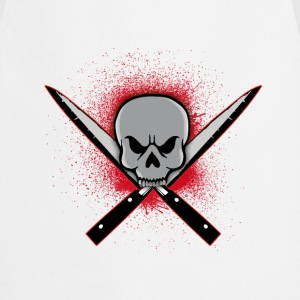 Skull with crossed knifes Tee shirts - Tablier de cuisine