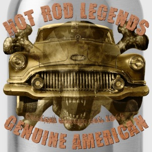 1951 Hot Rod Vintage Buick 8 skull T-Shirts - Trinkflasche