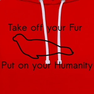 Take off your Fur T-Shirts - Kontrast-Hoodie