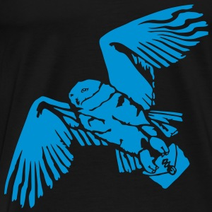 Hedwig (negative) Polo Shirts - Men's Premium T-Shirt