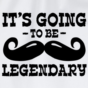 it's going to be legendary / moustache Shirts - Drawstring Bag