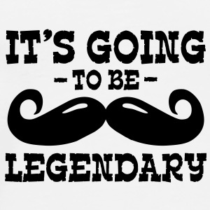 it's going to be legendary / moustache Teddies - Men's Premium T-Shirt