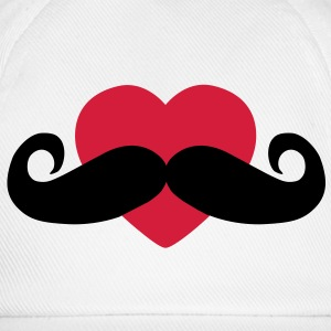 heart moustache / love moustache Hoodies - Baseball Cap