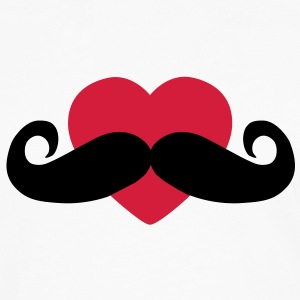 heart moustache / love moustache Hoodies - Men's Premium Longsleeve Shirt