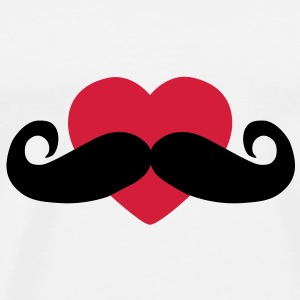 heart moustache / love moustache Bottles & Mugs - Men's Premium T-Shirt
