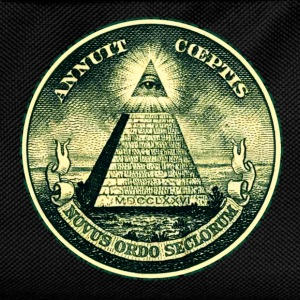 All seeing eye, pyramid, dollar, freemason, god Tee shirts - Sac à dos Enfant