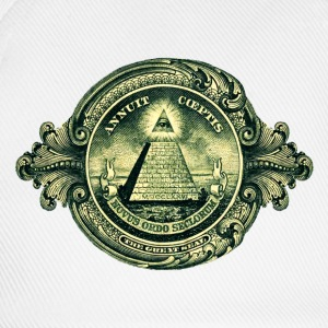 All seeing eye, pyramid, dollar, freemason, god Sweatshirts - Baseballkasket