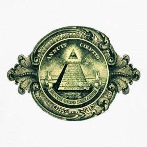 All seeing eye, pyramid, dollar, freemason, god Sweatshirts - Herre premium T-shirt med lange ærmer