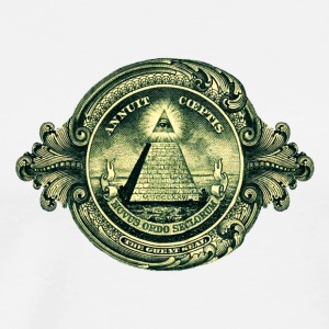 All seeing eye, pyramid, dollar, freemason, god Sweatshirts - Herre premium T-shirt