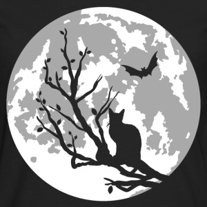 cat on moon T-Shirts - Männer Premium Langarmshirt