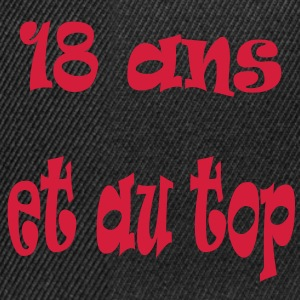 18_ans Tee shirts - Casquette snapback