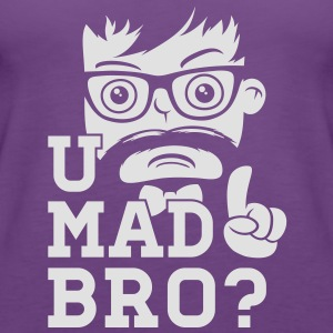 Like a cool you mad story bro moustache Gensere - Premium singlet for kvinner