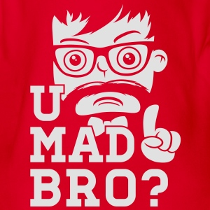 Like a cool you mad story bro moustache Shirts - Organic Short-sleeved Baby Bodysuit