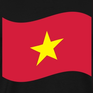 Vietnam Flag Wave Hoodies & Sweatshirts - Men's Premium T-Shirt