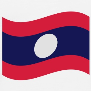 Laos / Lao Flag Wave Caps & Hats - Men's Premium T-Shirt