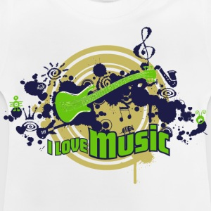 Kinder T-Shirt I love Music play it loud - Baby T-Shirt