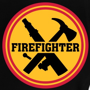 Firefighter Bombero Logo Icon Fire Department Camisetas - Camiseta bebé