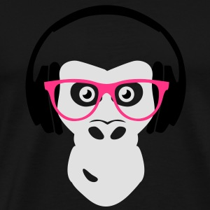 gorilla with headphones Hoodies & Sweatshirts - Men's Premium T-Shirt