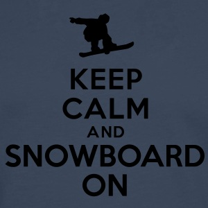 Keep calm and snowboard on Tee shirts - T-shirt manches longues Premium Homme