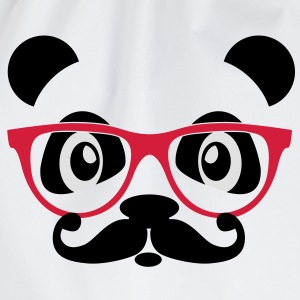 nerd panda with moustache and glasses Shirts - Gymtas