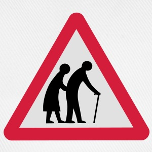 Caution Old People Crossing Traffic Sign Underwear - Baseball Cap