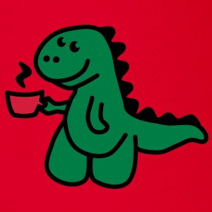 Coffee Makes My Day t rex  Skjorter - Økologisk kortermet baby-body