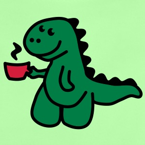 Coffee Makes My Day t rex Tröjor - Baby-T-shirt