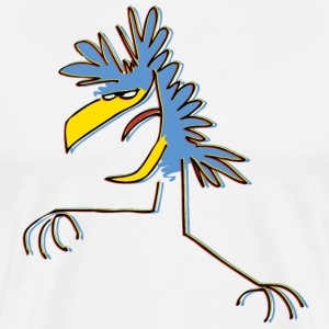 White Blue Cartoon Dancing Bird by Cheerful Madness!! online shop  Aprons - Men's Premium T-Shirt