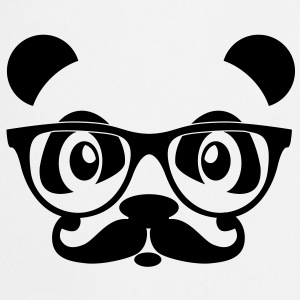 nerd panda with moustache and glasses Sweat-shirts - Tablier de cuisine