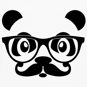 nerd panda with moustache and glasses Sweat-shirts - T-shirt manches longues Premium Homme