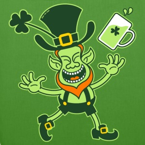 Euphoric Leprechaun Celebrating St Patrick's Day H - EarthPositive Tote Bag