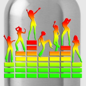 Dancing girls - Equalizer - EQ -  Music - Reggae Camisetas - Cantimplora