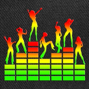 Dancing girls - Equalizer - EQ -  Music - Reggae Tee shirts - Casquette snapback