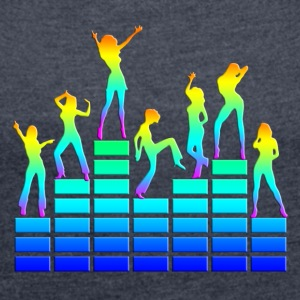 Dancing girls - equalizer - EQ -  music - sound Gensere - T-skjorte med rulleermer for kvinner