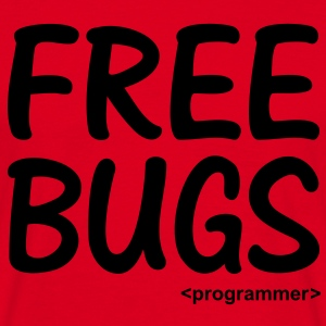 Free Bugs instead of Free Hugs. Programmer Nerd Sweaters - Mannen T-shirt